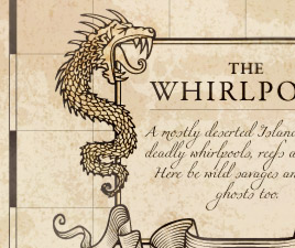 Pirates of the Caribbean, Master of the Seas – The Whirlpool Island detail