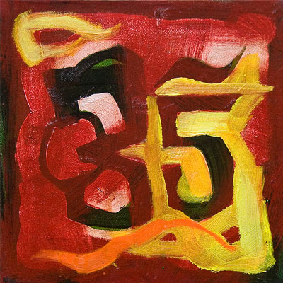 (Numbers)<br>Oil on canvas, 2009